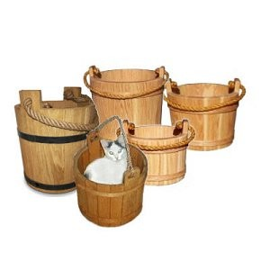 Handmade Wood Buckets, Wood Butter Churns